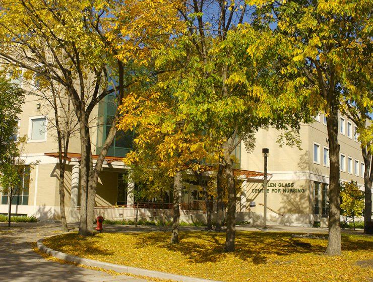 College of Nursing building at Fort Garry campus.
