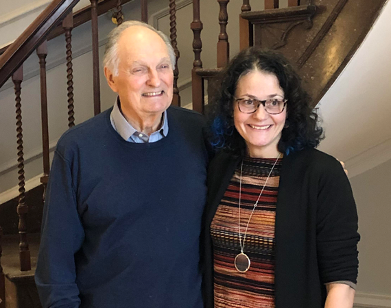 ACTOR ALAN ALDA, WHO PLAYED TV DOCTOR HAWKEYE PIERCE, AND DR. JILLIAN HORTON HAVE BOTH BECOME CHAMPIONS FOR HUMANISM IN HEALTH CARE.