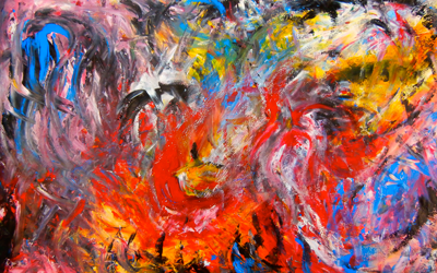 DEMONS, A PAINTING BY A 17-YEAR-OLD WHO WANTED TO SHOW WHAT LIVING WITH ANXIETY WAS LIKE