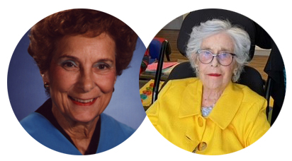 Dr. Helen Glass and Joann MacMorran